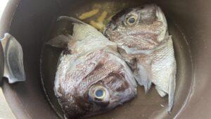 鯛の兜煮の調理